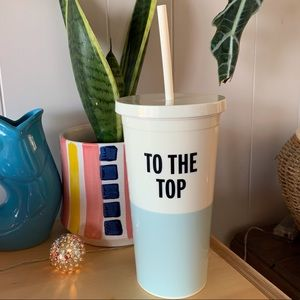 """Kate Spade """"To The Top"""" Tumbler and Straw"""